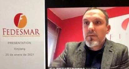 Intervención del presidente de FEDESMAR en China.